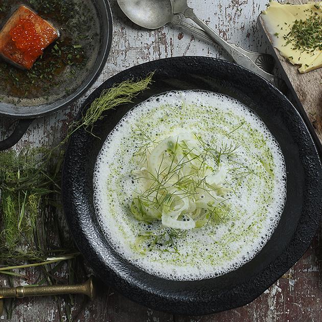 Kremet fiskesuppe med røye